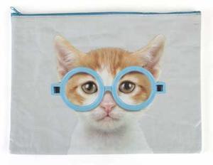 A4-mapp glasögonkatt